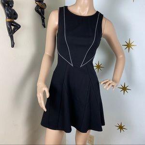 Tart black structured mini dress